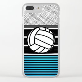 volley ball art Clear iPhone Case