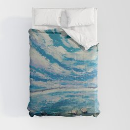Meditation on water Comforters