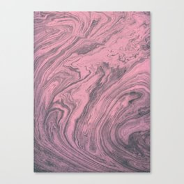 Pink Marbled Texture Canvas Print