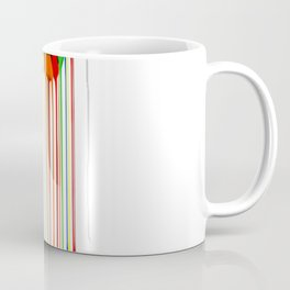 Rainbow Abstraction melted rubiks cube Coffee Mug