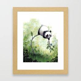 Panda Hello Framed Art Print