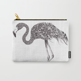 Zentangle Flamingo Carry-All Pouch