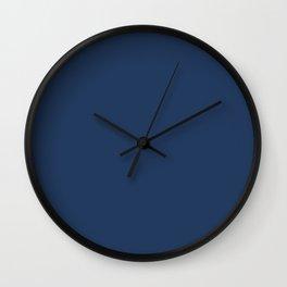 """Navy Peony"" pantone color Wall Clock"