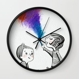 Draw With Me Wall Clock