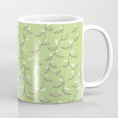 Gentle Green Leaves And Lianas Pattern Mug