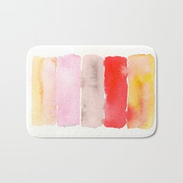141217 Abstract Watercolor 1 Bath Mat