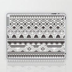 CRYSTAL AZTEC B/W  Laptop & iPad Skin