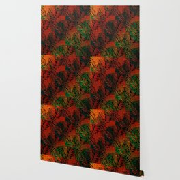 Abstract Leaf Arrangement (African Colors) Wallpaper