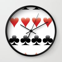 suits Wall Clocks featuring Suits by doodletome