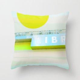 Santa Monica Library v3 Throw Pillow