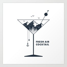 Fresh Air Cocktail Art Print