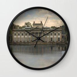 Royal Palace in Warsaw Baths Wall Clock