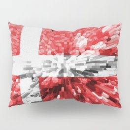 Extruded Flag of Denmark Pillow Sham