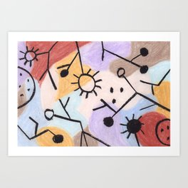Tribute to Klee XII Art Print
