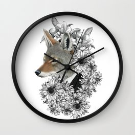 unique and exclusive fox in fancy suit Wall Clock