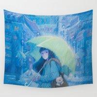 hong kong Wall Tapestries featuring My Hometown---Hong Kong by Phoenix Chan