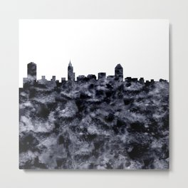 Raleigh Skyline North Carolina Metal Print