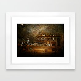 Riga Black Balsam Bar in Riga Latvia Framed Art Print