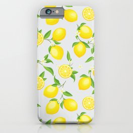 You're the Zest - Lemons on White iPhone Case