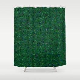 Antique Texture Emerald Green Shower Curtain