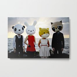 Dapper Animals Sunset Faces Metal Print