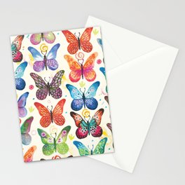 Colorful Butterflies Stationery Cards