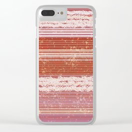 Abstract in shades of red and creamy Clear iPhone Case