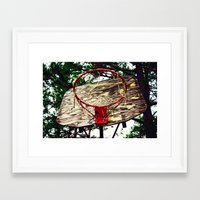 basketball Framed Art Prints featuring Basketball by Denise Burns