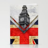 uk Stationery Cards featuring Flags - UK by Ale Ibanez