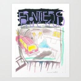 """Dealerships"" / Frontier Ruckus Song Illustrations, Series 1 (7/15) Art Print"