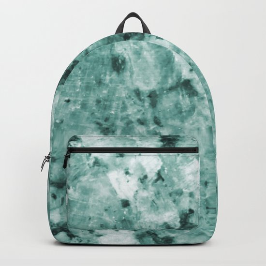 Mint Green Crystal Marble Backpack