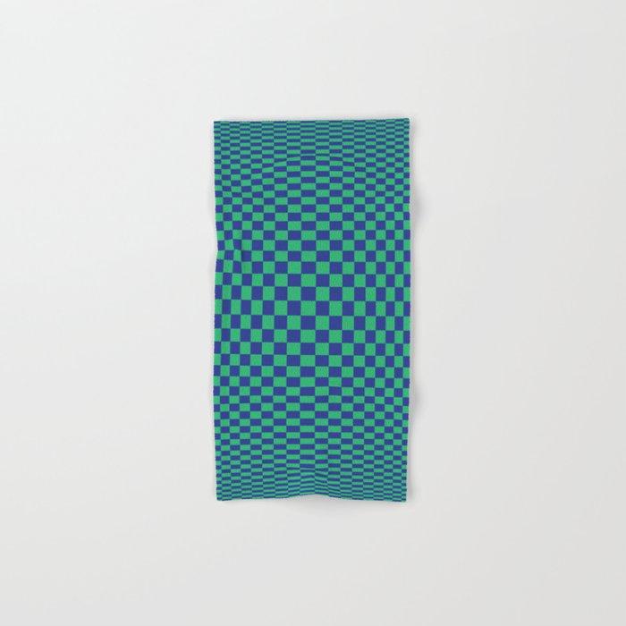 Green and Blue - Optical game Hand & Bath Towel