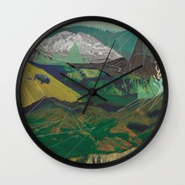 Buffalo Mountains Wall Clock