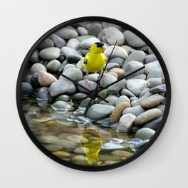 Golden Reflections Wall Clock