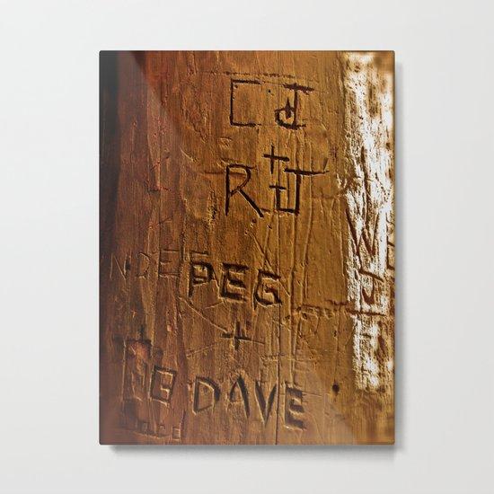 Carved Love Metal Print
