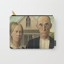 American Gothic by Grant Wood, 1930 Carry-All Pouch