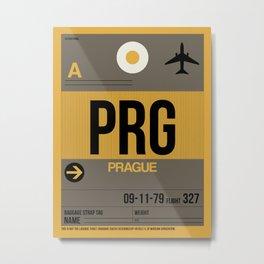 PRG Prague Luggage Tag 1 Metal Print