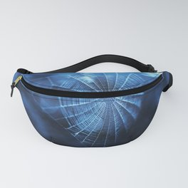 Spider Web in Blue Fanny Pack