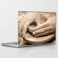 arsenal Laptop & iPad Skins featuring Working Hands by Brian Raggatt
