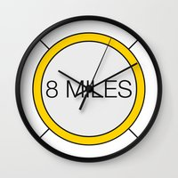 miles davis Wall Clocks featuring 8 miles by Thomas Official