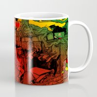 rave Mugs featuring Jungle Rave by Von Grey
