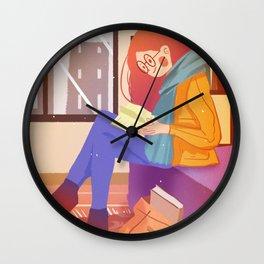 Reading Girl In Room Wall Clock