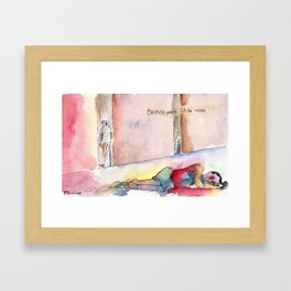 Broken People Fill the Cracks Framed Art Print