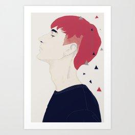 Freckled boy Art Print