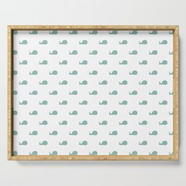 Snails Silhouette Drawing Pattern Serving Tray