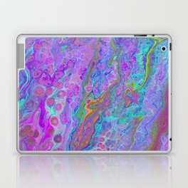 Pink Turquoise Pour Laptop & iPad Skin