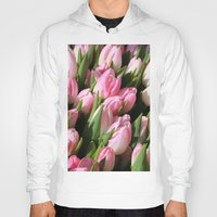 tulips Hoodies featuring  Tulips. by Assiyam