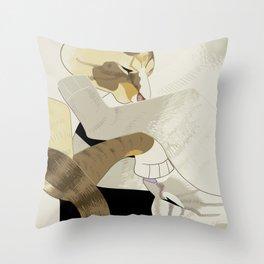 Gourdie and Pumpkin Throw Pillow