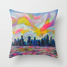 An Evening In Vancouver  Throw Pillow