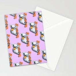 koala eating pizza pattern Stationery Cards
